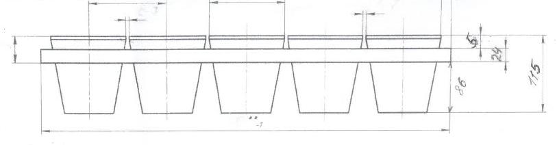 Креслення блок форм хлібопекарних для формового хліба Л7