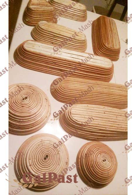 Форми (корзинки) з лози для вистоювання тіста. Форма №22, до 0,8кг (Човен) - 3
