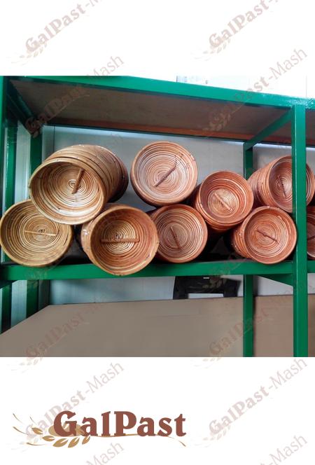 Форми (корзинки) з лози для вистоювання тіста. Форма №25, до 1,5кг (Простокат) - 1
