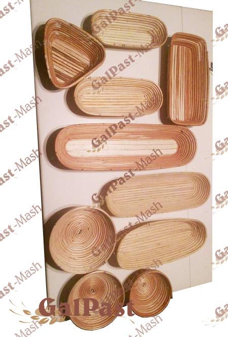 Форми (корзинки) з лози для вистоювання тіста. Форма №25, до 1,5кг (Простокат) - 4