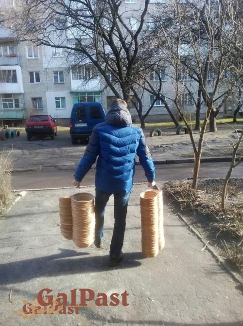 Форми (корзинки) з лози для вистоювання тіста. Форма №25, до 1,5кг (Простокат) - 5