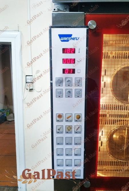 Піч стаціонарна пароконвекційна Вейшеу на 1 вагонетку 15-18 рівнів, електрична, парозволоження, програмне управління, 2004-2008р. WIESHEU, Німеччина. Б/У - 3