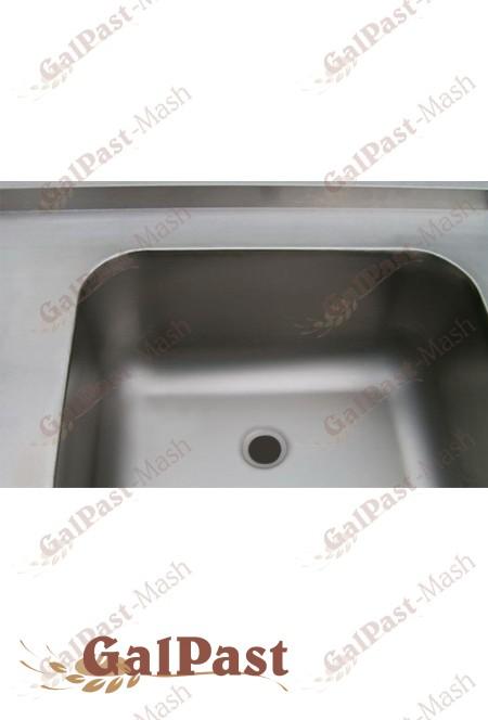 Мийка виробнича, штампована, 1 ванна, з нержавіючої сталі - 1