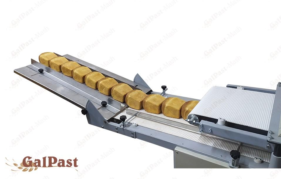 Хліборізка автоматична Slice-UP LUX, Промислова, до 1500шт/год, безперервного типу, конвеєрна, з регулюванням швидкості руху транспортера. ГАЛПАСТ-МАШ - 2