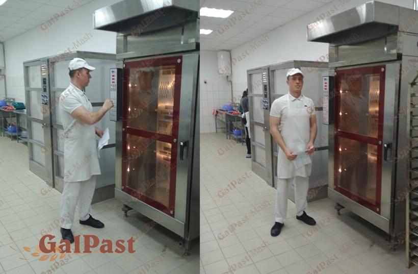 Піч для пекарні, стаціонарна, пароконвекційна Вейшеу на 1 вагонетку 15-18 рівнів, електрична, парозволоження, програмне управління, контроль роботи сторонньою витяжкою, 2000-2008р. Німеччина. Б/У - 1